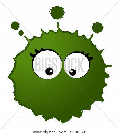 Virus and germs on a white background for a design