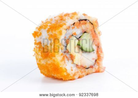California Roll With Crab Meat, Mayonnaise, Cucumber, Avocado