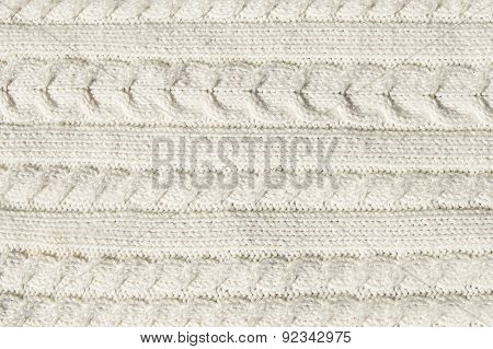 White Knitted Sweater Background