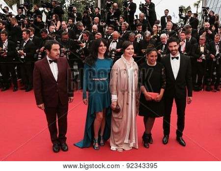 T. Rahim, N. Labaki, Isabella Rossellini, H. Al-Mansour attend Premiere of 'Mad Max: Fury Road' during the 68th annual Cannes Film Festival on May 14, 2015 in Cannes, France.