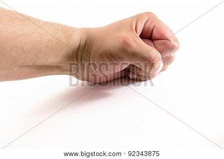 Clenched Male Human Fist