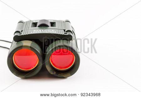 Closeup Of Camouflage Style Binoculars