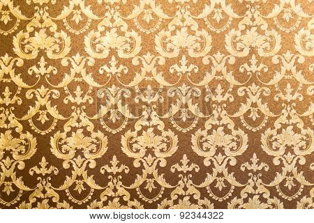 Gilded Floral Wall Background
