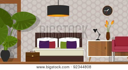 bedroom interior vector house furniture homr