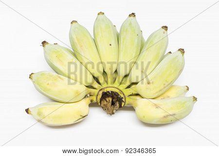 Bunch of raw thai bananas