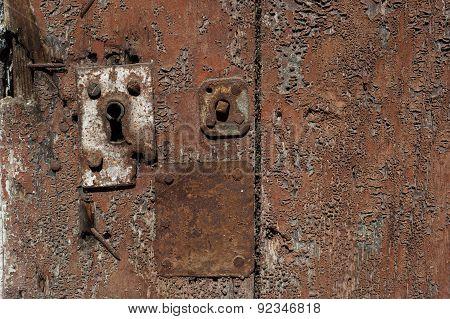 Old Rusty Keyhole door