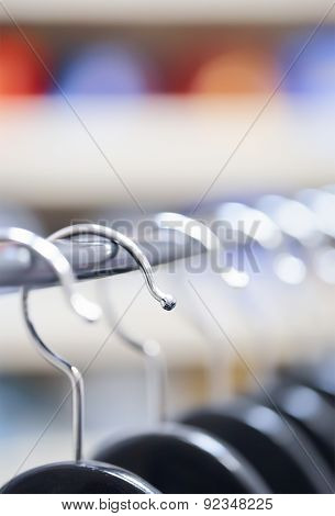 Hangers At A Clothing Store