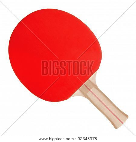 Racket For Ping-pong And Ball On White Background