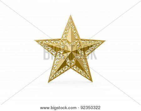 Golden Yellow Christmas Star
