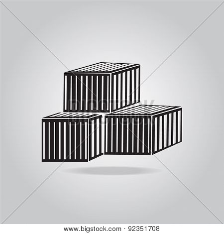 Storage Crates Boxes, Containers Icon