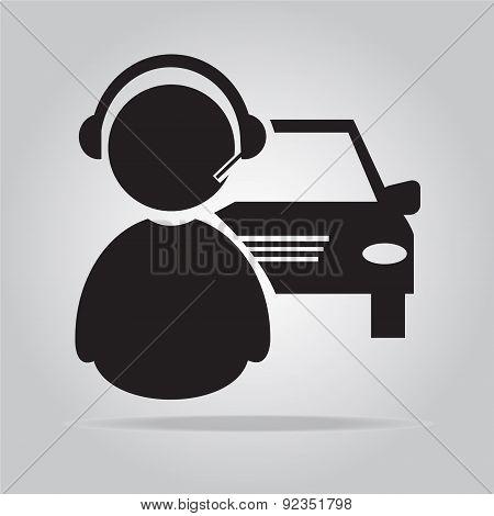 Car Service, Car Contact Icon