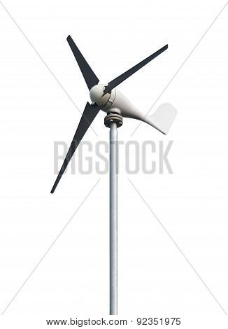 Windmill On A White Background