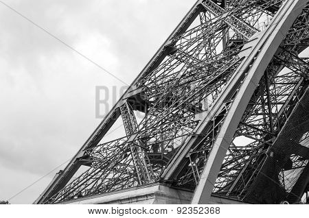 Eiffel Tower Architecture Detail
