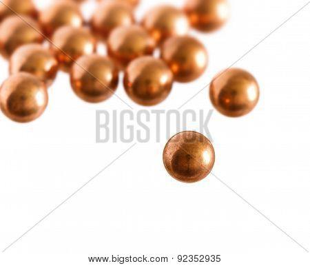 Metallic Balls On White Background