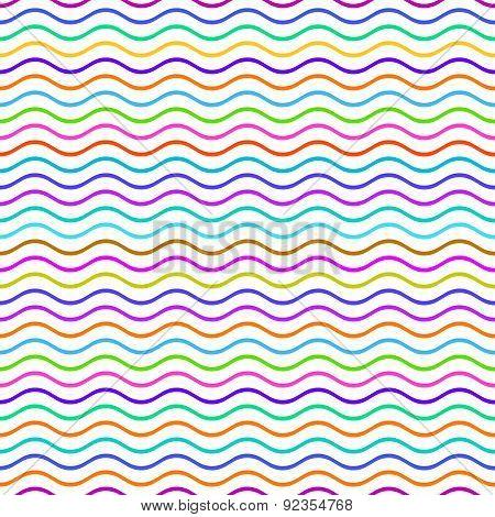 Seamless Wavy Line Pattern