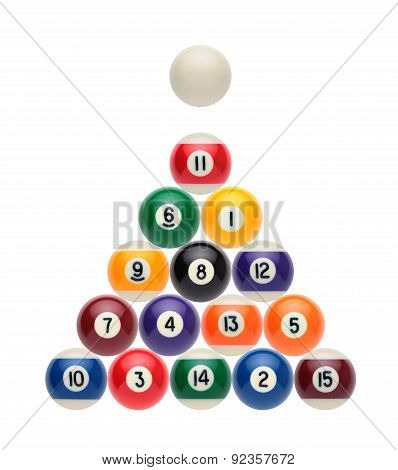 Billiard Balls On A White Background
