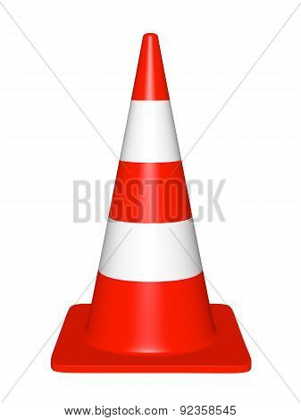 Traffic Cone On A White Background