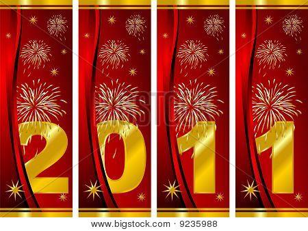 Ano novo sobre vermelho
