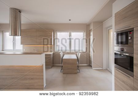 Kitchen With Counter