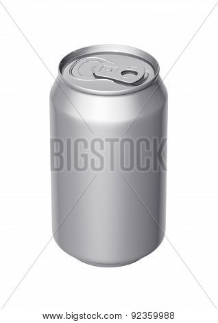 Can Of Beer On A White Background