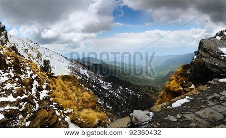 Mountain Ranges And Gorge