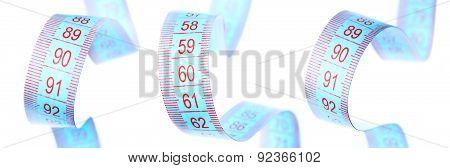 measuring tape, bust, waist, hip