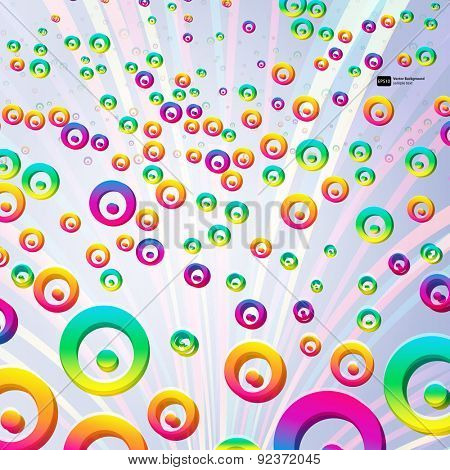 Abstract colorful bubbles background. Vector.