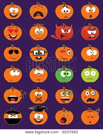 Jack-o-lantern Smiley Faces