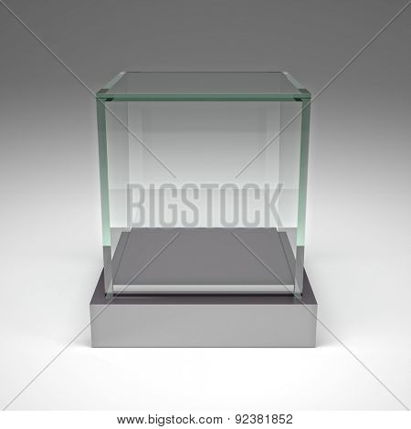 3d image of glass showcase