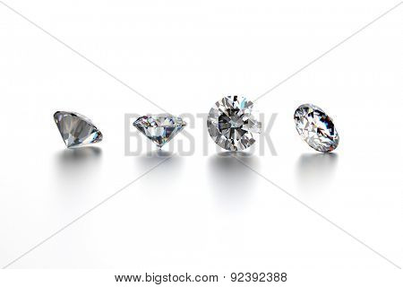 Set of Diamond round shape. Jewelry background