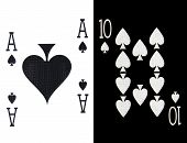 pic of ace spades  - best classic winning blackjack combination ten and ace of spades - JPG