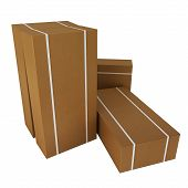 picture of dispatch  - Large brown cardboard boxes for dispatch or delivery - JPG