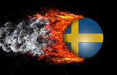 stock photo of sweden flag  - Concept of speed  - JPG