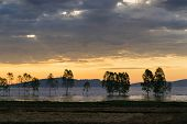 foto of fantastic  - Fantastic silhouette tree in sun rise Thailand  - JPG