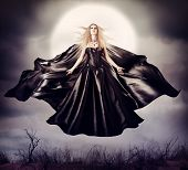foto of halloween  - Beautiful woman  - JPG