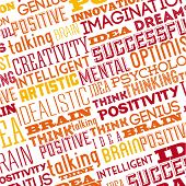 picture of positive thought  - think positive graphic design  - JPG