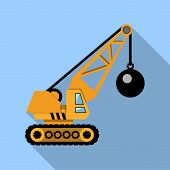 picture of wreckers  - Crane with Wrecking Ball  - JPG
