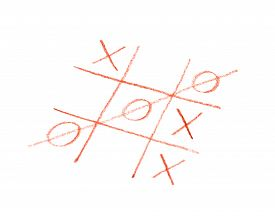 stock photo of tic  - Tic tac toe game - JPG