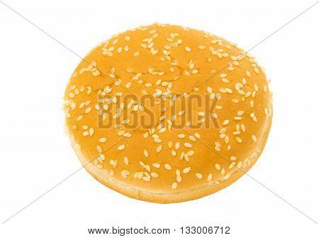 objects hamburger buns isolated on white background