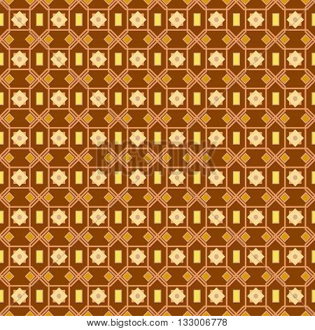 An Orange Seamless Pattern Background With A Cubic Style Arabic