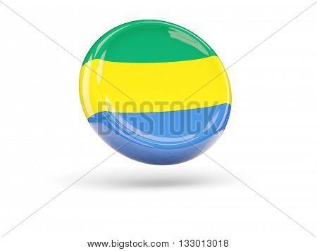 Flag Of Gabon. Round Icon