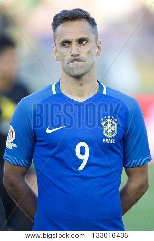 PASADENA, CA - JUNE 4: Jonas during the COPA America game between Brazil & Ecuador on June 4th 2016 at the Rose Bowl in Pasadena, Ca.