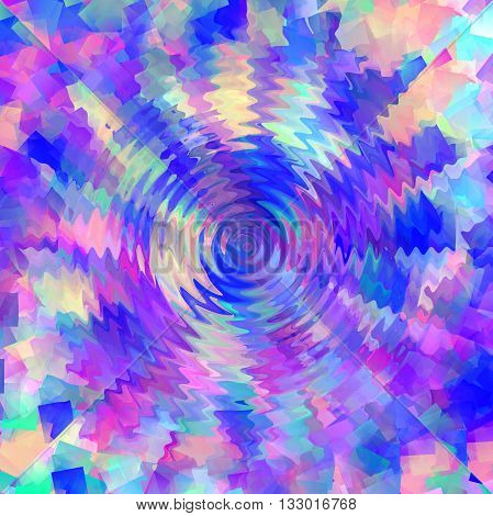 Abstract coloring gradients background with cubism,illusion and zigzag effects