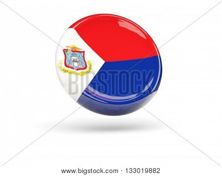 Flag Of Sint Maarten. Round Icon