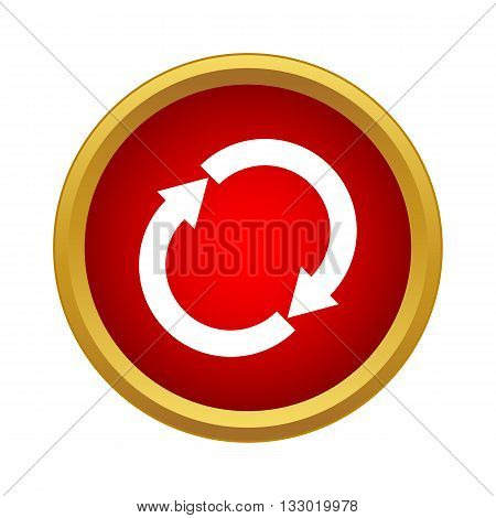 Reload icon in simple style isolated on white background