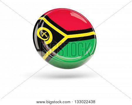 Flag Of Vanuatu. Round Icon