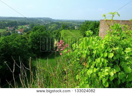 SEEN ON MONTREUIL DOWN FROM THE CITADEL, PAS DE CALAIS, THE NORTH OF FRANCE
