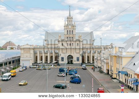 The main railway station in Brest, Belarus.