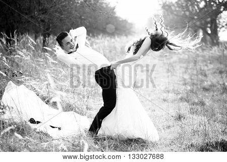 Sexy Happy Wedding Couple