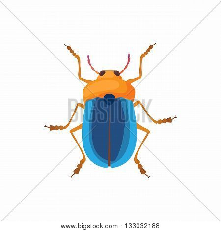 Bug icon in cartoon style isolated on white background